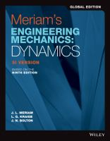 Engineering mechanics: Volume 2 Dynamics