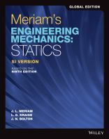 Engineering mechanics: Volume 1 Statics
